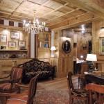 Sala in legno antico di abete