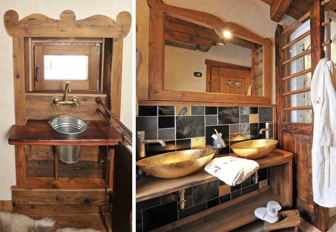 Pareti e rivestimenti in pregiato legno antico vecchio di for Mobile bagno legno