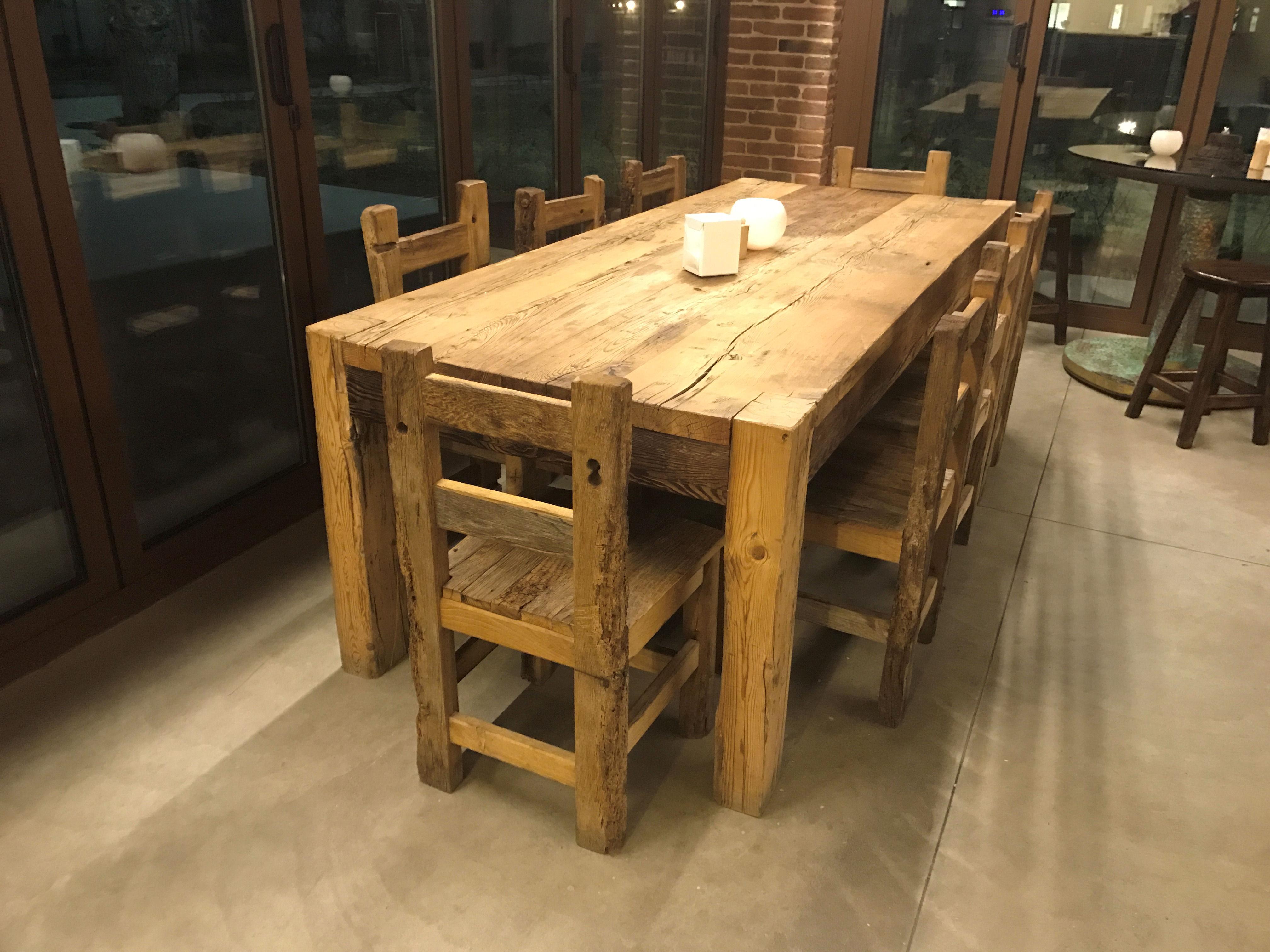 Tavolo con sedie antico casamia idea di immagine for Tavolo legno vecchio usato