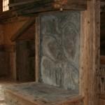 Caminetto legno antico