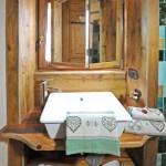Bagni legno antico abete