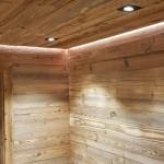 pareti e soffitto in abete antico prima patina